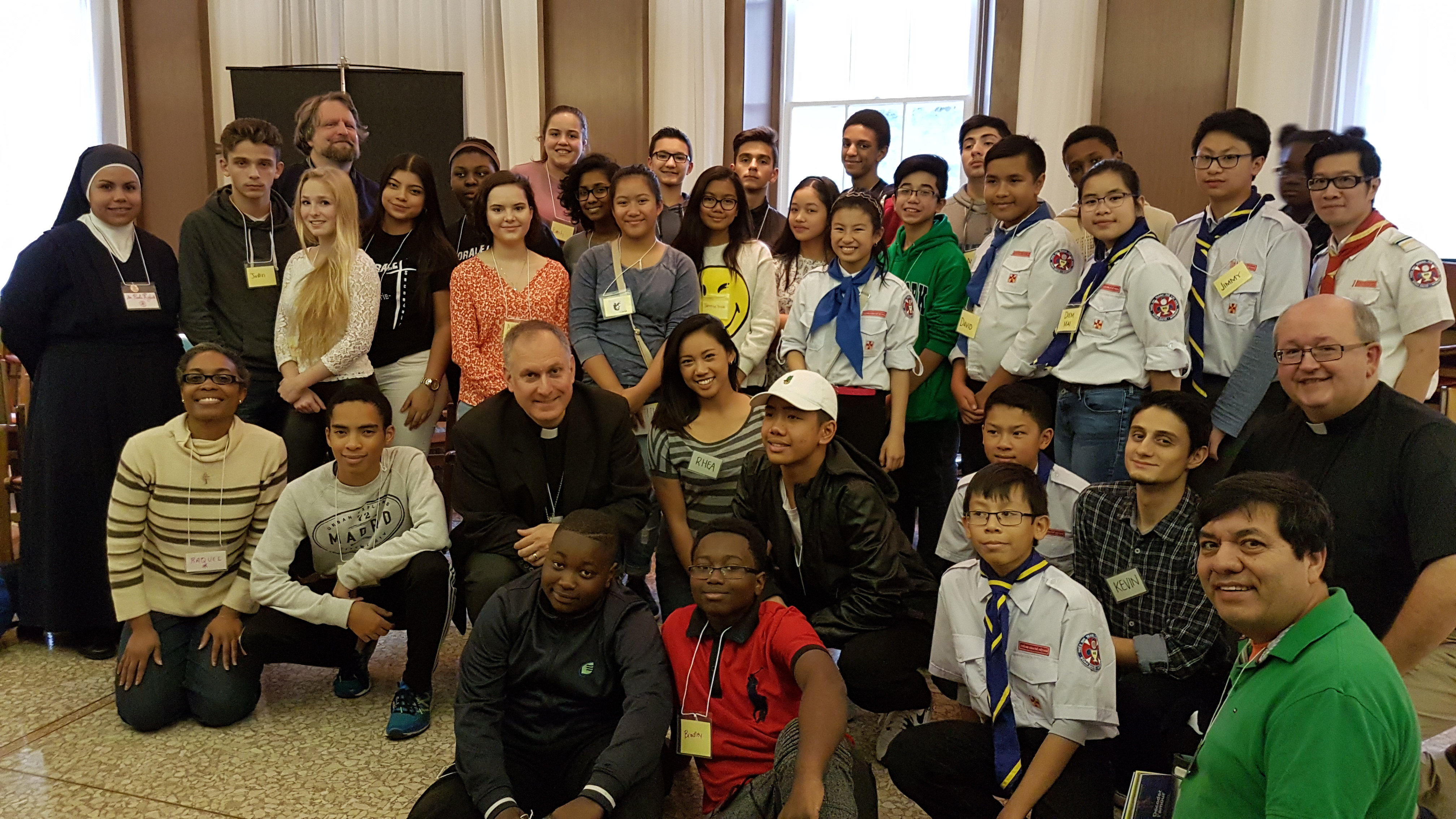 Young people gathered for the Youth Forum held at the Grand Séminaire de Montréal
