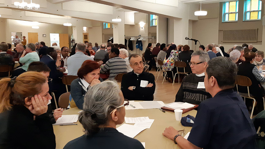 Participants discussing together