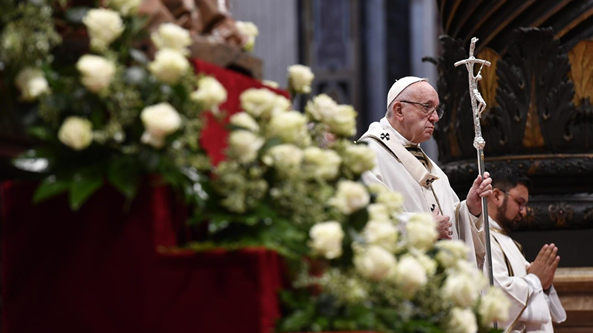 Pope Francis during Mass for the World Day of the Poor