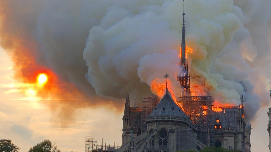 Fire burns Notre-Dame Cathedral in Paris