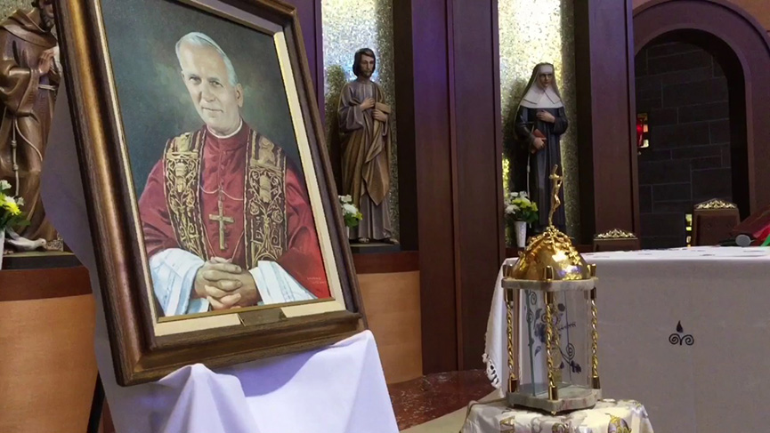 Relics of St. John Paul II and St. Padre Pio in Montreal