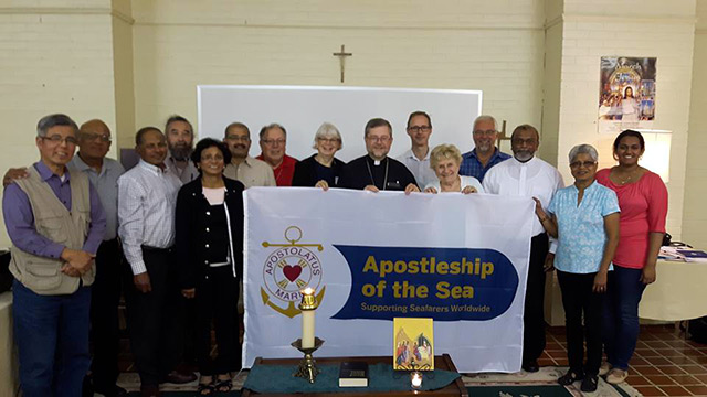 Bishop Thomas Dowd with AoS Chaplains