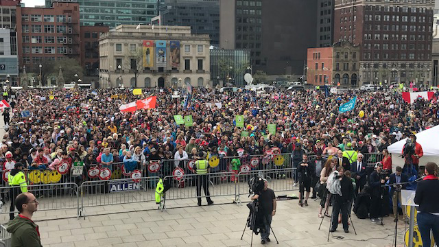 Thoushand of people gathered for the National March for Life held in Ottawa May 10, 2018.