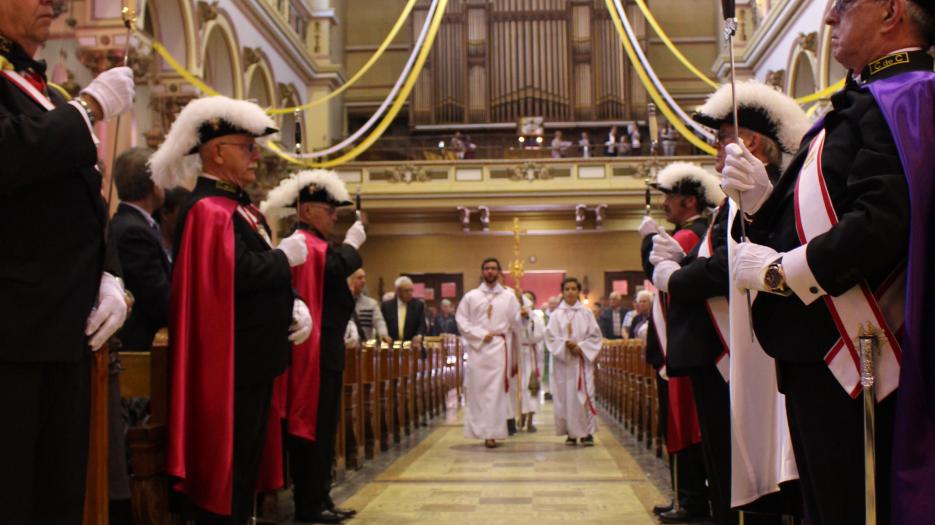 A Guard of Honour at the begining of the celebration. (Photo: Isabelle de Chateauvieux) © Catholic Archdiocese of Montreal