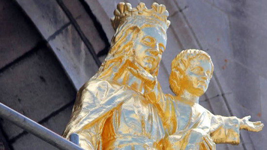 The statue of Our Lady, Help of Christians returns