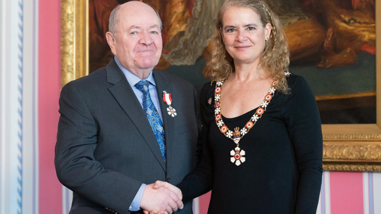 Fr. John Emmett Walsh, C.M. with Governor General Julie Payette