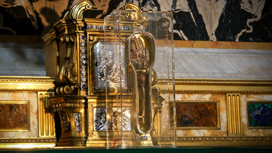 The relic of Saint Francis-Xavier