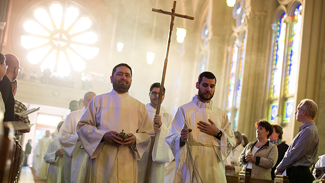 Seminarians during a Mass (Photo: OVDM)